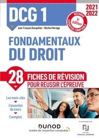 Jean-François Bocquillon et Martine Mariage - DCG 1 Fondamentaux du droit - Fiches de révision - Réforme Expertise comptable.