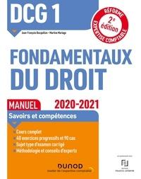 Jean-François Bocquillon et Martine Mariage - DCG 1 Fondamentaux du droit - Manuel - 2020/2021 - 2020/2021.