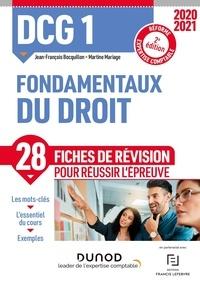 Jean-François Bocquillon et Martine Mariage - DCG 1 Fondamentaux du droit - Fiches de révision.