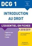 Jean-François Bocquillon et Martine Mariage - DCG 1 - Introduction au droit - 2018/2019 - 9e éd. - L'essentiel en fiches.