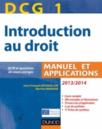 Birrascarampola.it DCG 1 Introduction au droit - Manuel et applications. Avec QCM et questions de cours corrigées Image