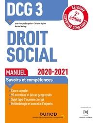 Jean-François Bocquillon et Christine Alglave - DCG 3 Droit social - Manuel - 2020-2021 - Réforme Expertise comptable.