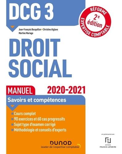 DCG 3 Droit social. Manuel  Edition 2020-2021