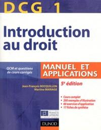 Openwetlab.it DCG1 Introduction au droit Manuel et applications - Avec QCM et questions de cours corrigés Image