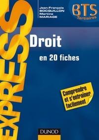 Jean-François Bocquillon et Martine Mariage - Droit BTS - en 20 fiches.