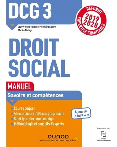 Jean-François Bocquillon et Christine Alglave - Droit social DCG 3 - Manuel.