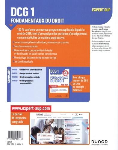 Fondamentaux du droit DCG 1. Manuel  Edition 2020-2021