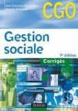 Jean-François Bocquillon et Patrick Pinteaux - Gestion sociale processus 2 - Corrigés.