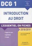 Jean-François Bocquillon et Martine Mariage - Introduction au droit DCG 1 - L'essentiel en fiches.