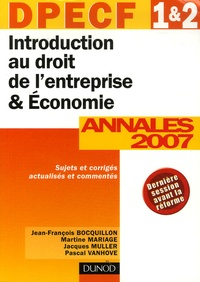 Introduction au droit de lentreprise et Economie DPECF 1e et 2e - Annales DPECF 1 et 2 Corrigés commentés.pdf