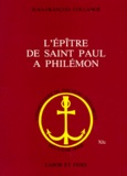 Jean-François Collange - L'Epître de saint Paul à Philémon.