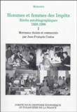 Jean-François Costes - Hommes et femmes des Impôts, Récits autobiographiques, 1920-1990 - Volume 1, Les premiers pas.