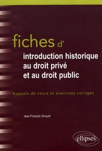 Galabria.be Fiches d'introduction historique au droit privé et au droit public - Du Ve siècle à l'époque contemporaine Image