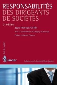 Jean-François Goffin - Responsabilités des dirigeants de sociétés.