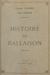 Jean-François Gonthier et Victor-Amédée Lafrasse - Histoire de Ballaison.