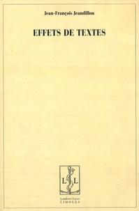 Jean-François Jeandillou - Effets de textes.