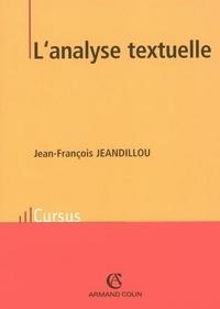 Jean-François Jeandillou - L'analyse textuelle.