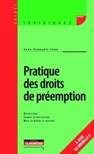Deedr.fr Pratique des droits de préemption - Définitions, Champs d'application, Mise en oeuvre et gestion Image