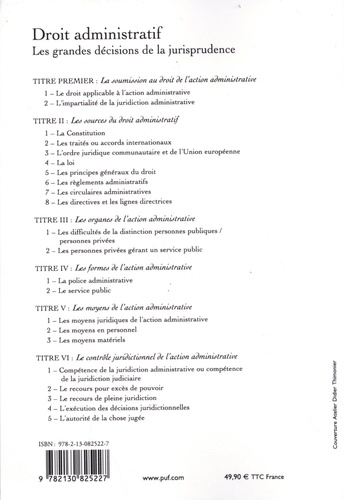 Droit administratif. Les grandes décisions de la jurisprudence 18e édition