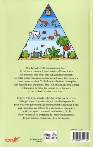 Agir pour la biodiversité tout autour de vous. Chez vous, dans votre jardin, dans votre quartier, sur votre lieu de travail, à l'école de vos enfants, sur votre commune...