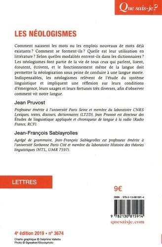 Les néologismes  Edition 2019