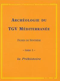 Jean-François Texier et Josselin Martel - Archéologie du TGV Méditerranée : Fiches de synthèse - Tome 1, La Préhistoire.