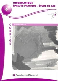 Informatique Epreuve pratique - Etude de cas Terminales STT. - Corrigé, avec 2 disquettes.pdf
