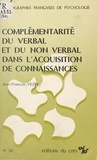 Jean-François Vezin - Complémentarité du verbal et du non verbal dans l'acquisition de connaissances.