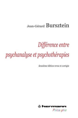 Jean-Gérard Bursztein - Différence entre psychanalyse et psychothérapies.