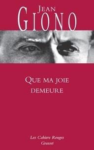Jean Giono - Que ma joie demeure.