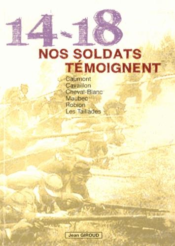 Jean Giroud - 1914-1918, nos soldats témoignent - Le canton de Cavaillon.