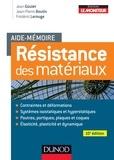 Jean Goulet et Jean-Pierre Boutin - Aide-mémoire - Résistance des matériaux - 10e éd..