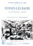 Jean Gourdon - Rennes-les-Bains, Campagne, Alet - Guide médical et topographique.
