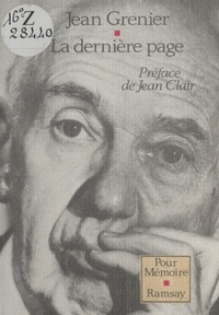 Jean Grenier - La Dernière page.