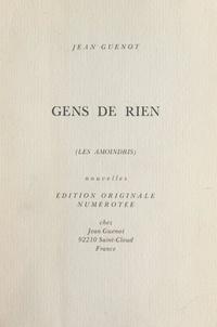 Jean Guenot - Gens de rien - Les amoindris.