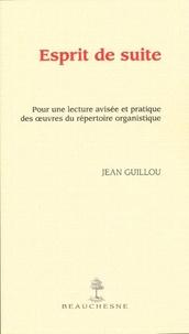 Deedr.fr Esprit de suite - Pour une lecture avisée et pratique des oeuvres du répertoire organistique Image