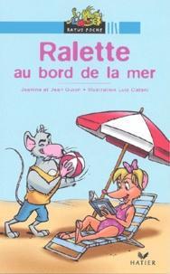 Jean Guion et Jeanine Guion - Ralette au bord de la mer.