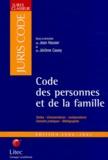Jean Hauser et Jérôme Casey - Code des personnes et de la famille.