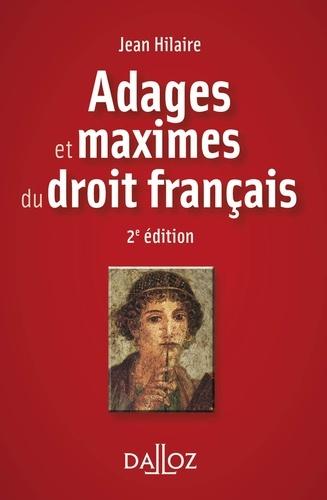 Adages et maximes du droit français 2e édition