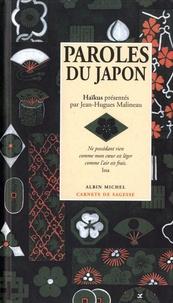 Jean-Hugues Malineau - Paroles du Japon - Haïkus.
