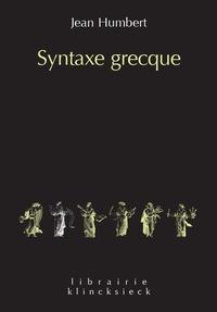 Jean Humbert - Syntaxe grecque.