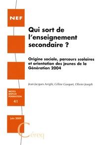 Openwetlab.it Qui sort de l'enseignement secondaire ? - Origine sociale, parcours scolaires et orientation des jeunes de la Génération 2004 Image