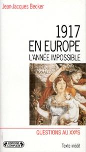 Histoiresdenlire.be 1917 en Europe - L'année impossible Image