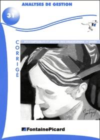 Analyse de gestion BTS comptabilité et gestion des organisations 1ère année. - Corrigé, avec CD-ROM.pdf