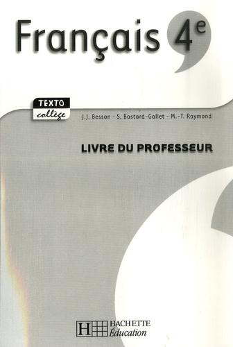 Francais 4e Livre Du Professeur