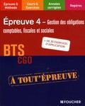 Jean-Jacques Cardinaux et Eric Dumalanède - Gestion des obligations comptables, fiscales et sociales BTS CGO Epreuve 4.