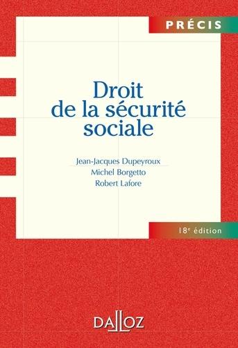 Droit de la sécurité sociale 18e édition