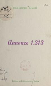 Jean-Jacques Julien - Annonce 1.313.