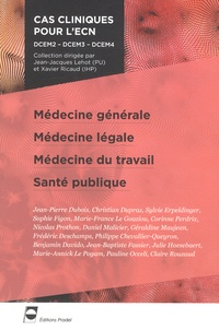Jean-Jacques Lehot et Xavier Ricaud - Médecine générale, Médecine légale, Médecine du travail, Santé publique.