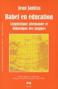 Jean Janitza - Babel en éducation - Linguistique allemande et didactique des langues.